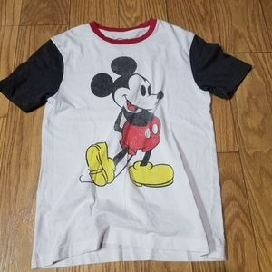 Distressed Disney Mickey Mouse Ringer Tee